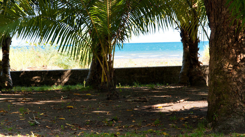 Titled beach front parcel